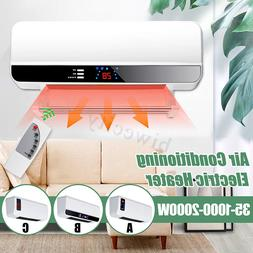 2000W Wall Mounted Heater Timing Space Heating Air Condition