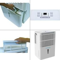 50-pint dehumidifier with electronic controls in white   key