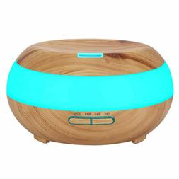 7 Color LED Lights Ultrasonic Air Humidifier Essential Aroma
