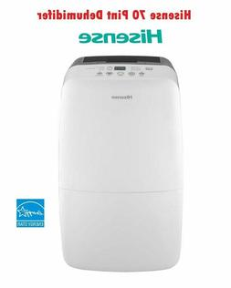 Hisense 70 Pint Dehumidifier DH-70KP1SLE Low Temp 40 With Bu