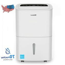 Shinco 70 Pints Whole House Dehumidifiers with Pump for Home