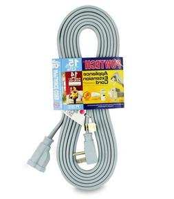15 foot air conditioner and appliance extension cord ul list