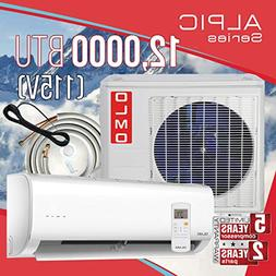 OLMO Alpic Ductless Mini Split Air Conditioner 12,000 BTU 11