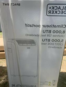 BLACK+DECKER BPACT08WT Portable Air Conditioner, 8,000 BTU,