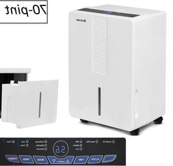 Dehumidifier 70 Pint For Home Portable Electric 3 Speed Base