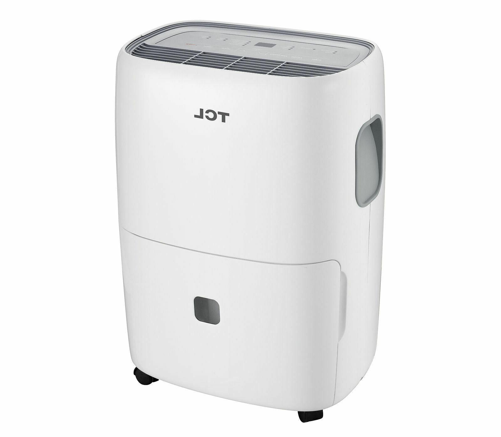 TCL 50 Pint Dehumidifier with Auto Defrost Feature - White