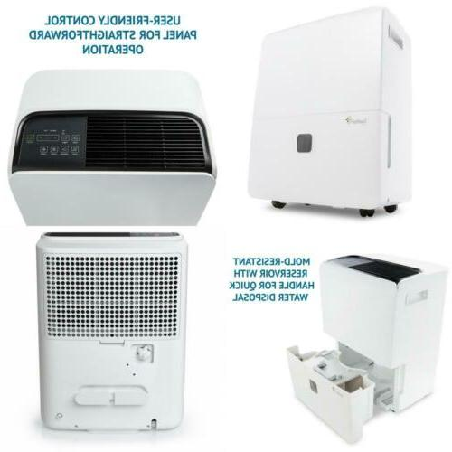 95 Pint Energy Star Dehumidifier WITH PUMP Large-Capacity Co