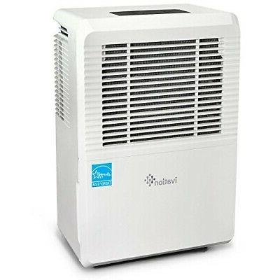 Ivation 70 Star Dehumidifier - Large-Capacity For Spaces -