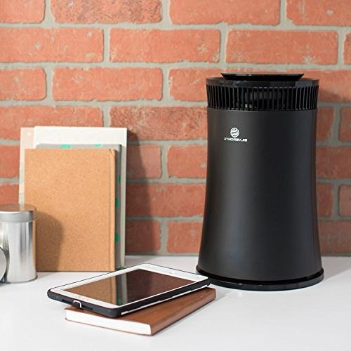 SilverOnyx Home Carbon Filter, for Allergies Smoke, Powerful to Room 500 sq ft. Black