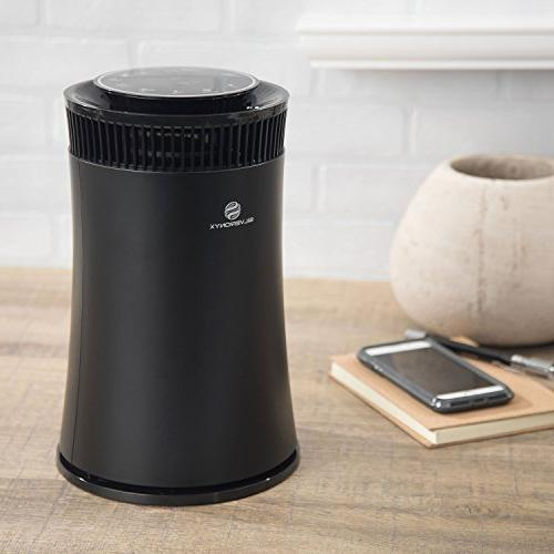 SilverOnyx Air for Home HEPA Carbon Filter, Ionizer. Best for Allergies Smoke, Dust, Smokers. Powerful to Large Room 500 sq Black