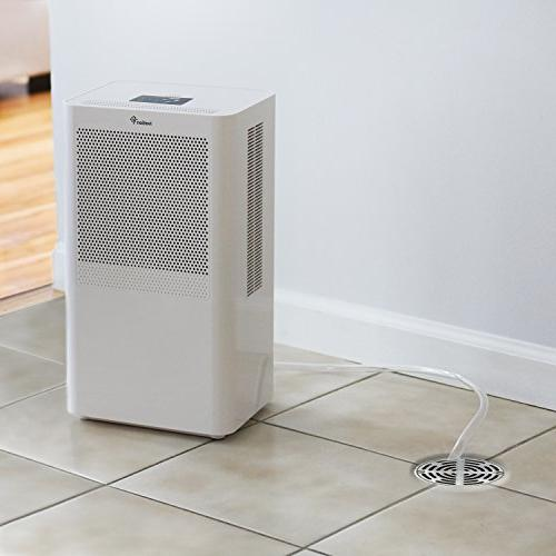 Ivation Small-Area Compact Dehumidifier with Continuous