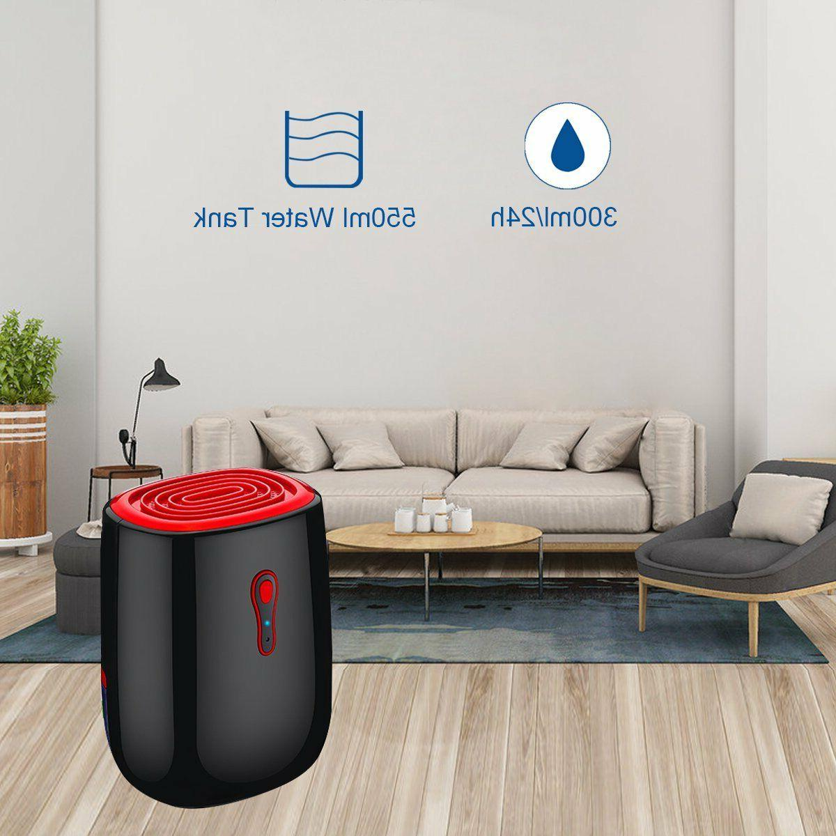 Black Electric Air Dehumidifier 300ml 215 Sq Ft Off