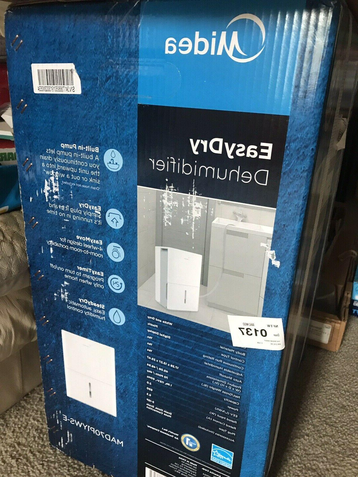 mad70p1yws dehumidifier 70 pint with reusable filter