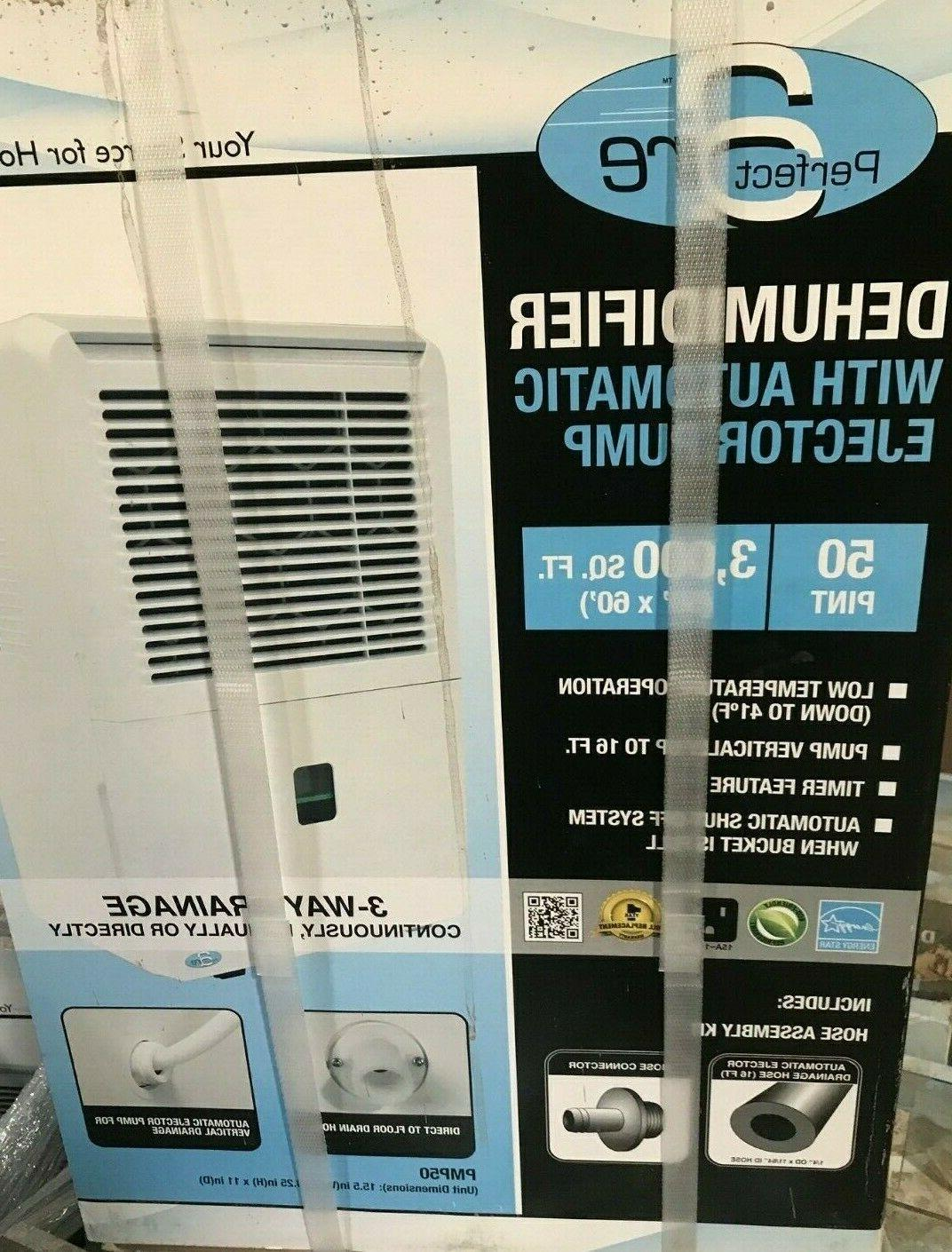 pmp50 50 pint electric dehumidifier with ejector