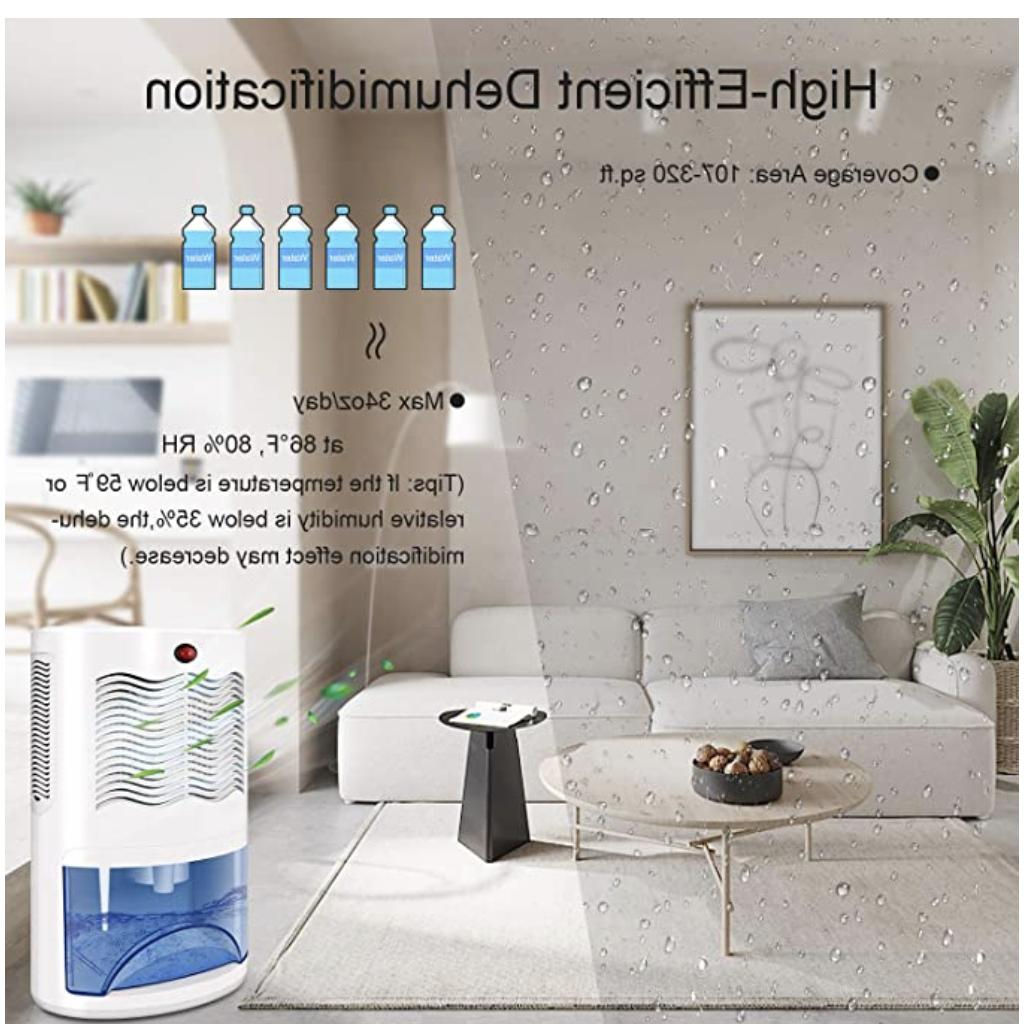 Small Dehumidifier for with Removes Moisture