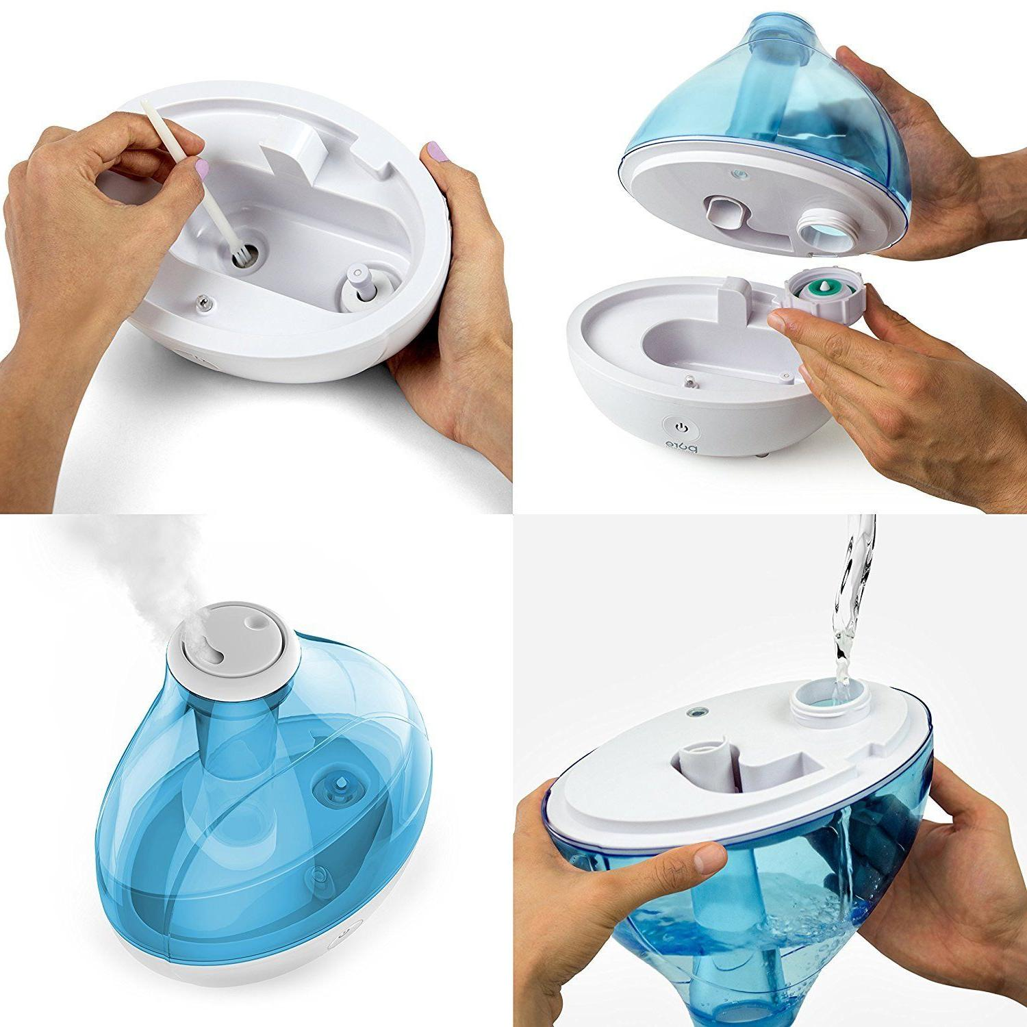 Pure Cool Mist Humidifier Base Blue Tank