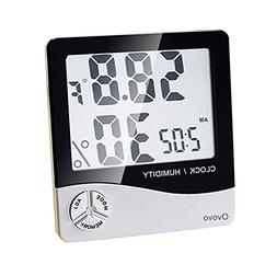 Ovovo Multifunctional LCD Digital Hygrometer Thermometer Ind