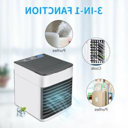 Portable Mini Air Artic Conditioner Cool Fan For Bedroom LED