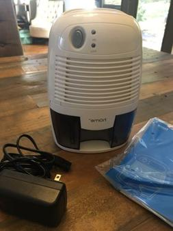 hOmeLabs Small COMPACT DEHUMIDIFER 250ml White & Grey